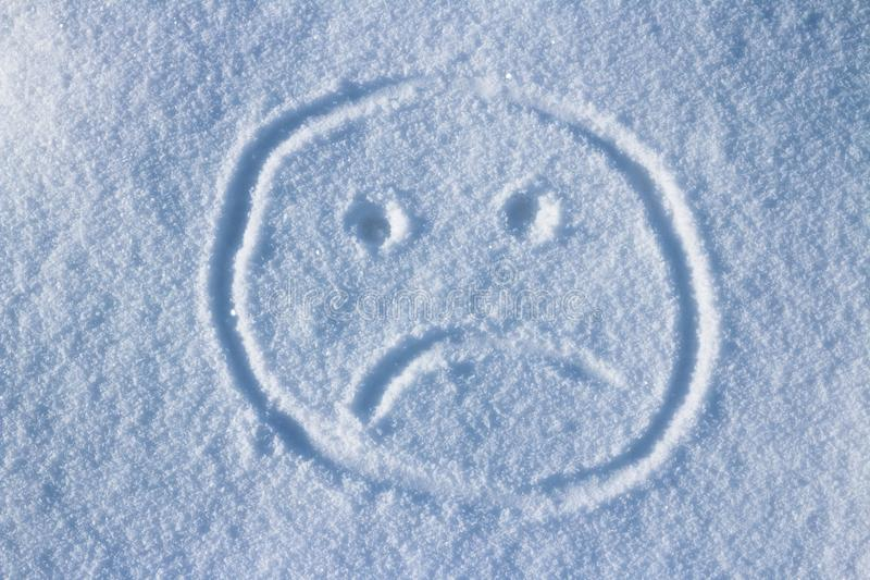 Сторона Smiley в снеге стоковые фотографии rf