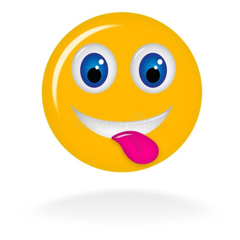 Сторона Smiley с языком бесплатная иллюстрация