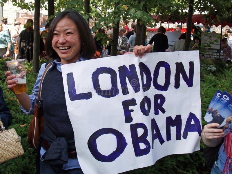 сторонница obama стоковые фотографии rf
