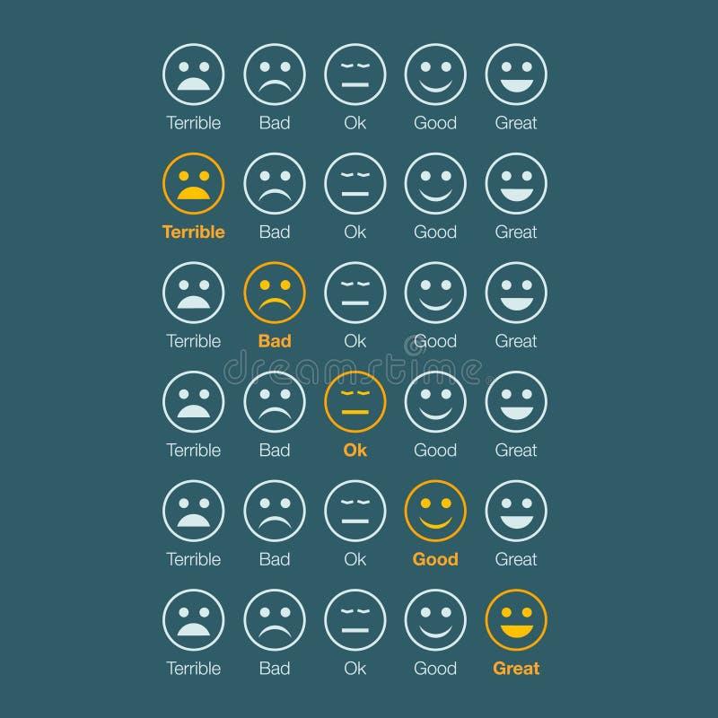 Стороны белизны обратной связи эмоции иллюстрация штока