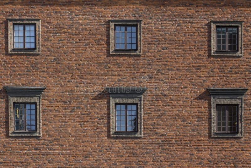 Стороны зданий в городе Швеции Стокгольма стоковое фото rf
