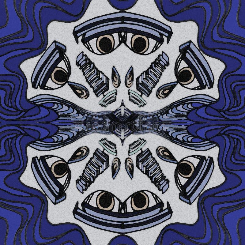 Стороны, который нужно заплакать Абстрактный чертеж в круговой форме иллюстрация штока