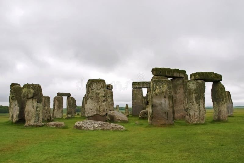 Стоунхендж в overcast Англии стоковая фотография