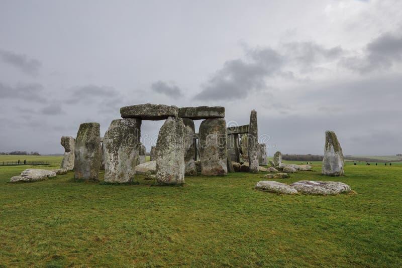 Стоунхендж, доисторический памятник в Англии стоковые фото