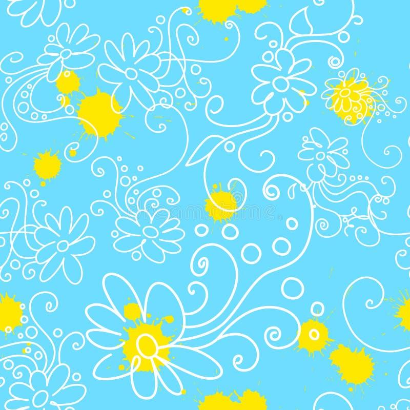 стоцвет безшовный иллюстрация штока