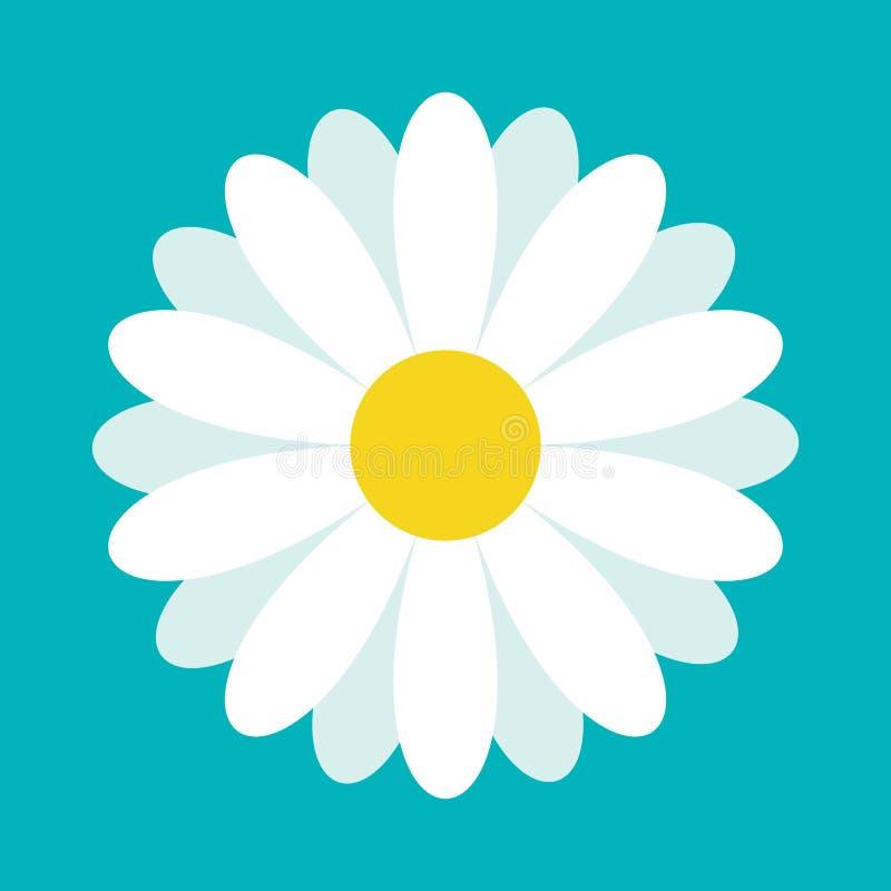 Стоцвет белой маргаритки Милое собрание завода цветка бумага влюбленности grunge карточки предпосылки Концепция значка стоцвета р иллюстрация вектора