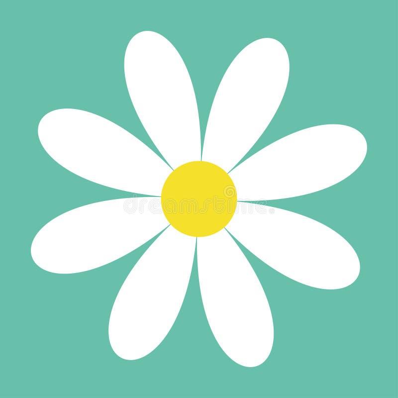 Стоцвет белой маргаритки Милое собрание завода цветка Значок стоцвета бумага влюбленности grunge карточки предпосылки расти принц иллюстрация вектора