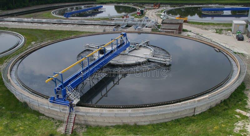 сточные воды обработки завода стоковое фото