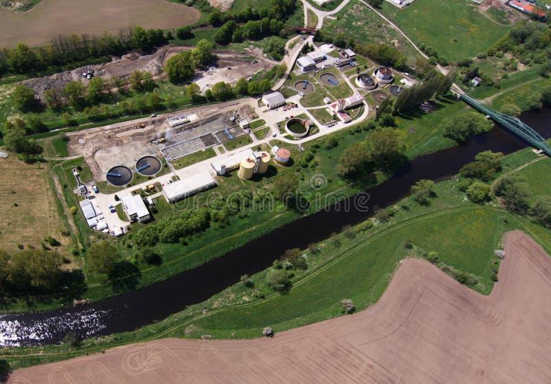 сточные воды обработки завода стоковая фотография rf