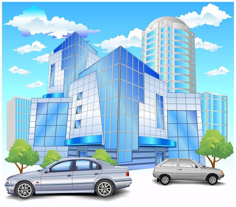 стоянка автомобилей здания