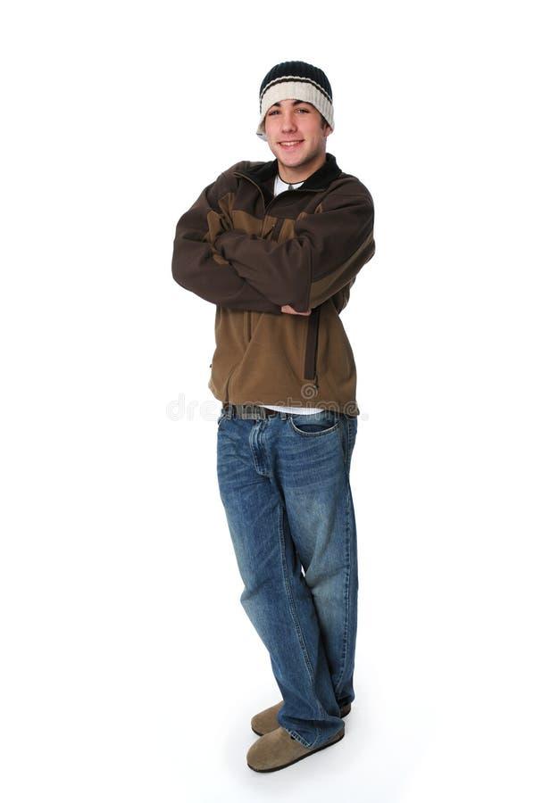 стоять портрета мальчика ся предназначен для подростков стоковые изображения rf