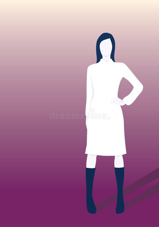 стоящая женщина иллюстрация вектора