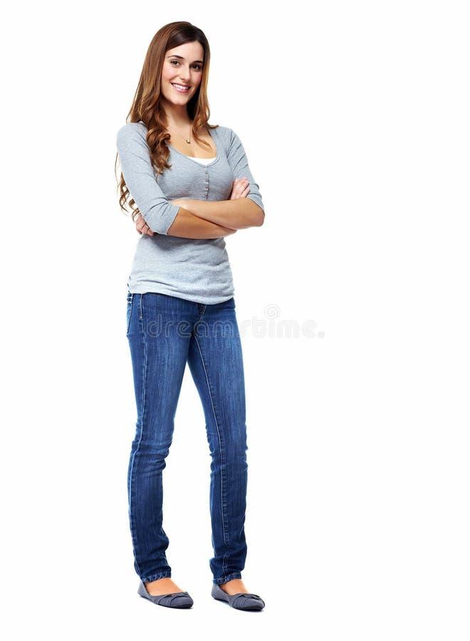 Стоящая женщина. стоковое изображение rf