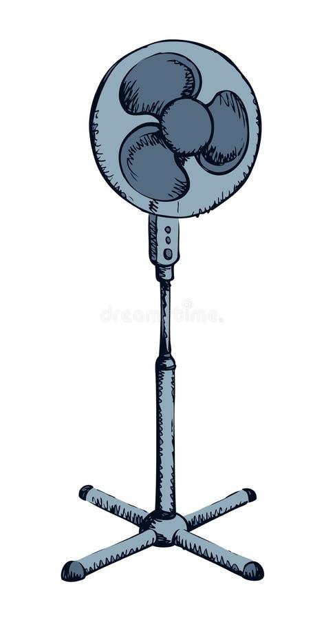 Стоя вентилятор r иллюстрация штока