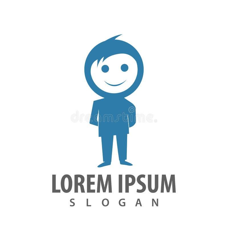 стоя дизайн концепции логотипа человека усмехаясь Вектор элемента шаблона символа графический иллюстрация штока