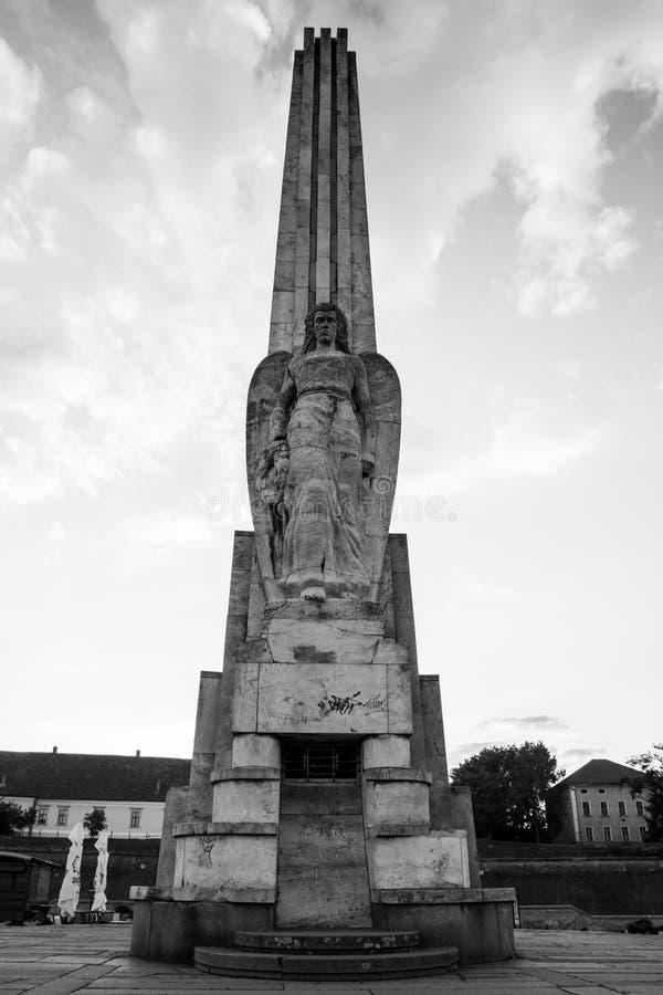 Столбец на крепости Alba Каролине стоковые фотографии rf