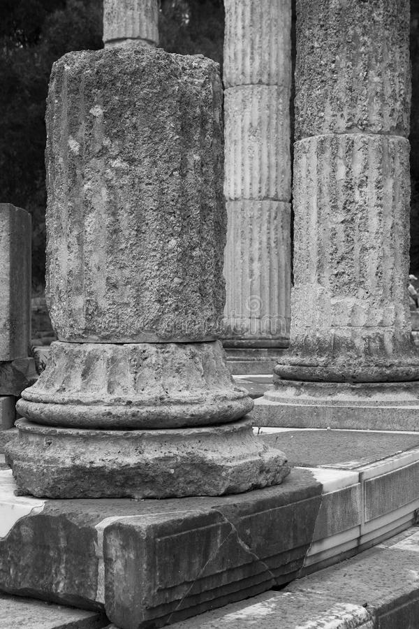 Столбцы олимпийца, Олимпия, Греция стоковые изображения rf