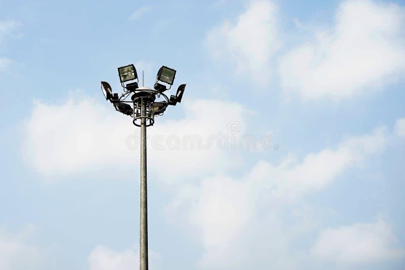 Столб спорта светлый стоковое фото rf