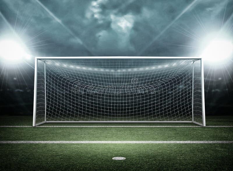 Столб цели, концепция футбола стоковые фотографии rf