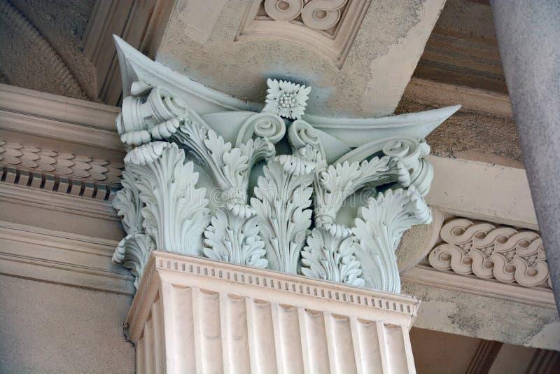 Столицы столбца стоковое изображение