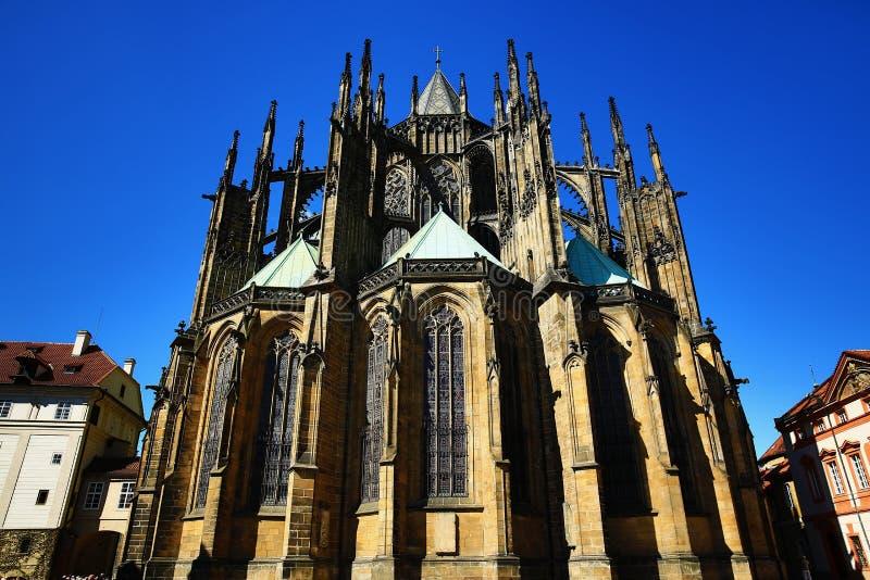 Столичный собор Святых Vitus, Wenceslaus и Adalbert, Праги, чехии стоковые фото
