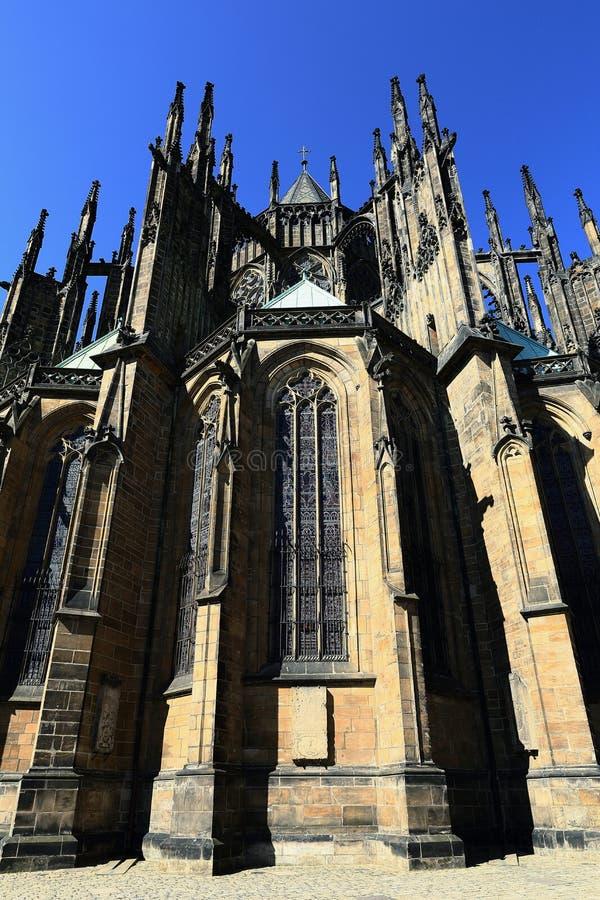 Столичный собор Святых Vitus, Wenceslaus и Adalbert, Праги, чехии стоковые изображения
