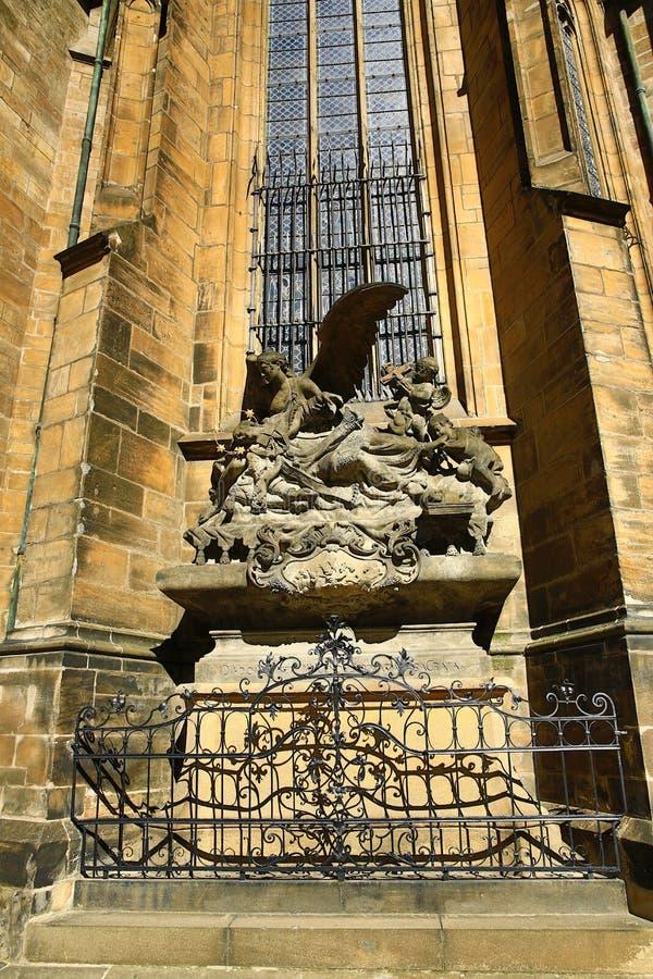 Столичный собор Святых Vitus, Wenceslaus и Adalbert, Праги, чехии стоковое фото
