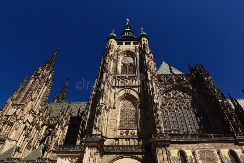 Столичный собор Святых Vitus, Wenceslaus и Adalbert, Праги, чехии стоковое изображение