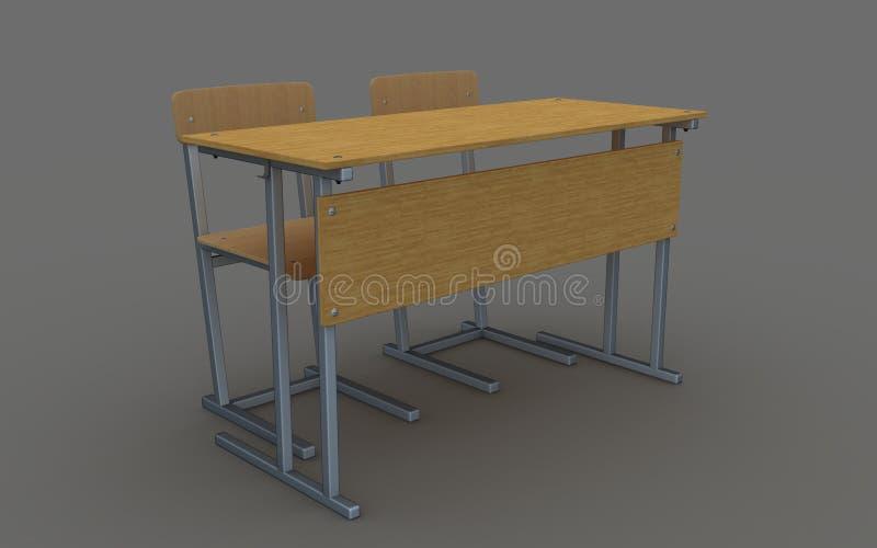 Стол и стулья школы стоковые фото