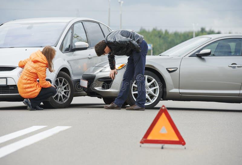 Столкновение автокатастрофы стоковые изображения rf