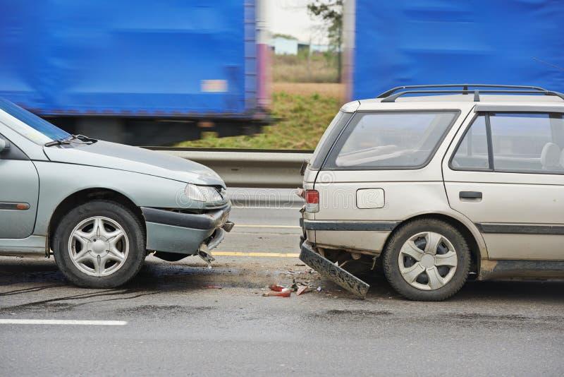Столкновение автокатастрофы стоковая фотография rf