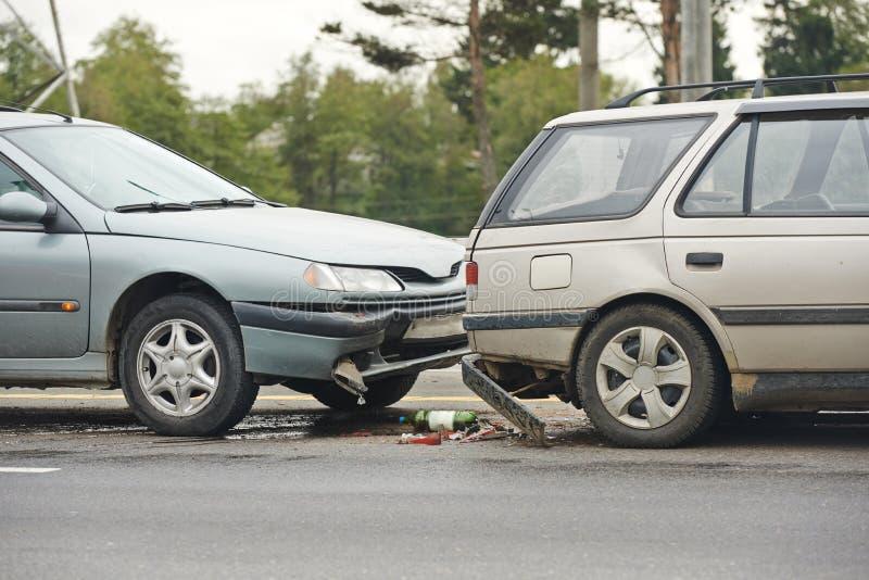 Столкновение автокатастрофы стоковые фотографии rf
