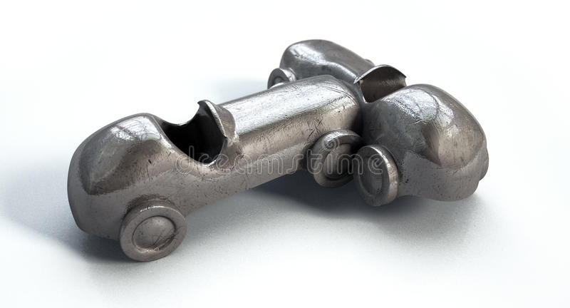 Столкновение автомобиля игрушки стоковое изображение