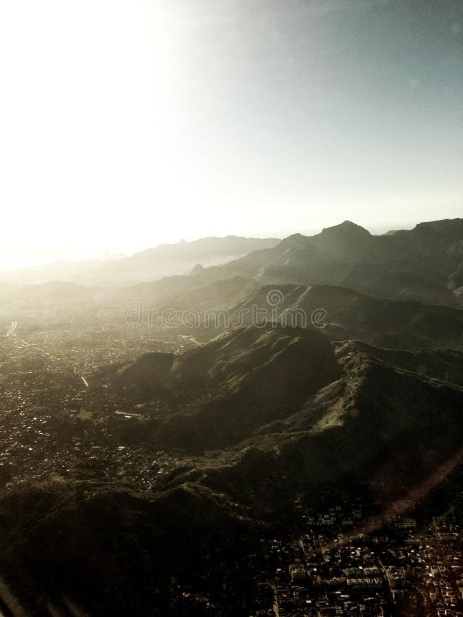 Столкновение горы стоковые изображения rf