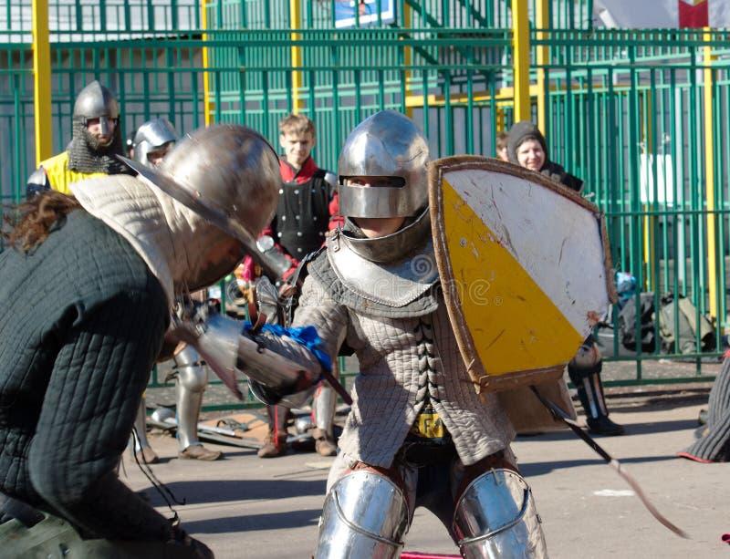 Столкновение рыцарей стоковые фото