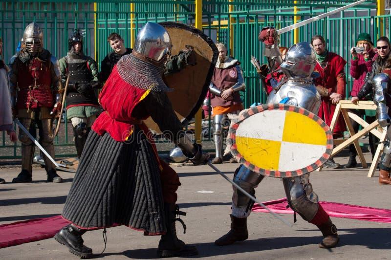Столкновение рыцарей стоковые фотографии rf