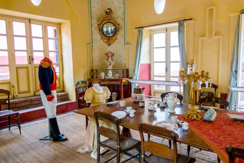 Столовая внутри музея Quinta Симон Боливар стоковая фотография rf