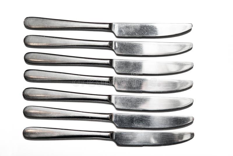 Столовый прибор, вилки, ножи стоковая фотография rf