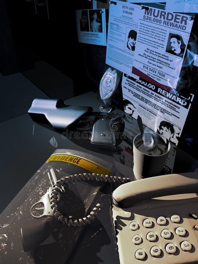 Стол полиции бесплатная иллюстрация