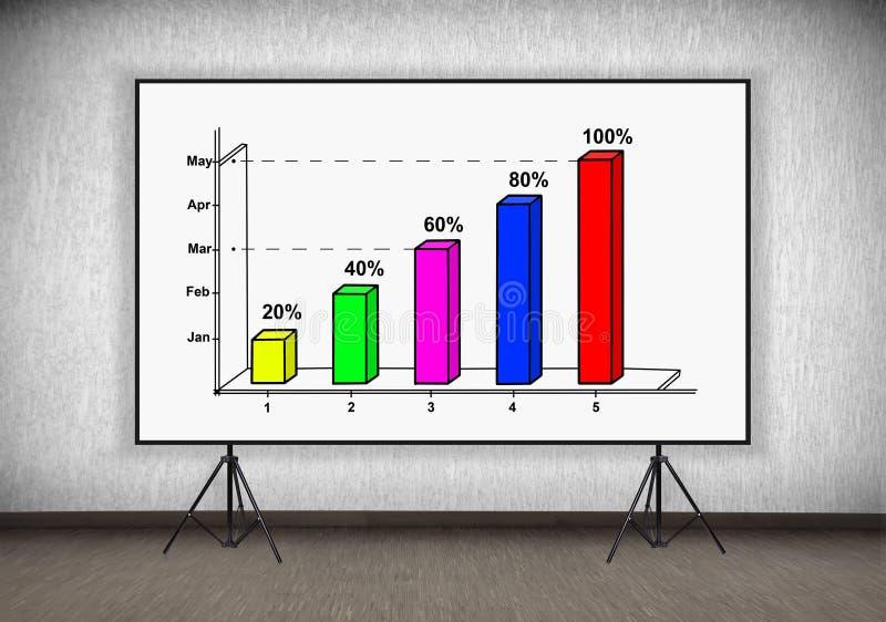 Стол с диаграммой бесплатная иллюстрация