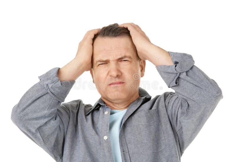страдание человека головной боли стоковые фотографии rf