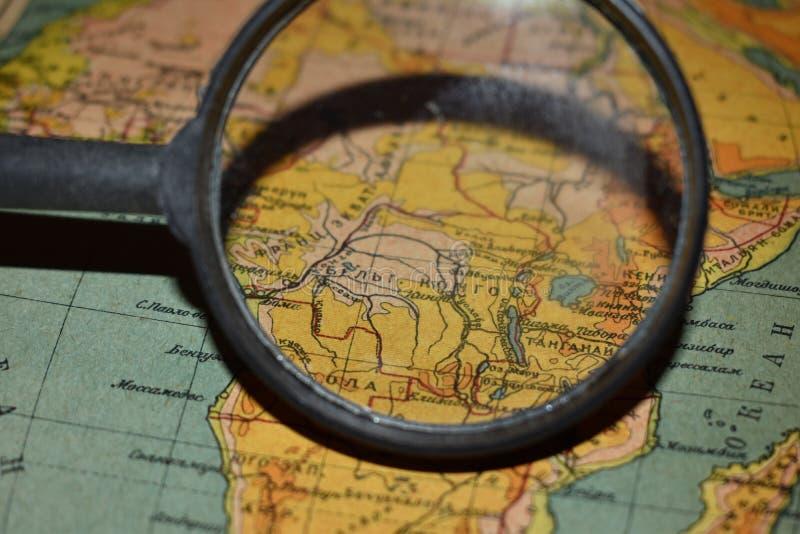 Страна и увеличитель Конго стоковое изображение rf