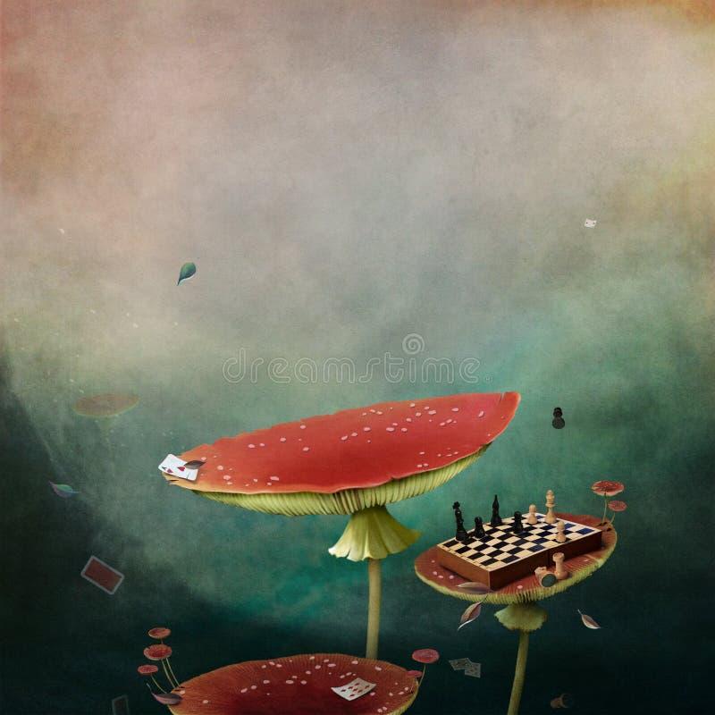 Страна чудес гриба бесплатная иллюстрация