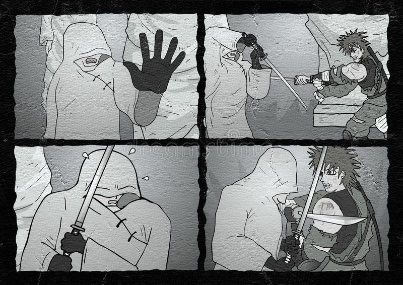 Страница бойца шуточная бесплатная иллюстрация