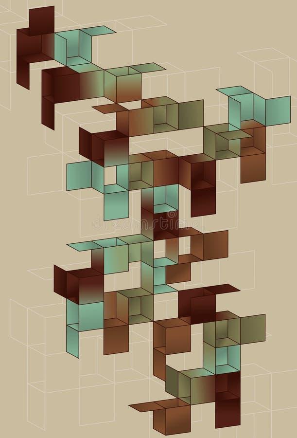страница градиента конструкции кубика бесплатная иллюстрация