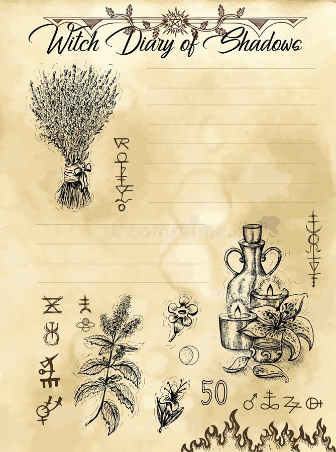 Страница 1 дневника ведьмы 31 бесплатная иллюстрация