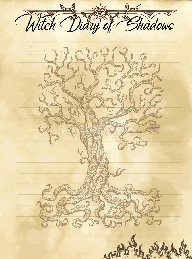 Страница 30 дневника ведьмы 31 иллюстрация вектора