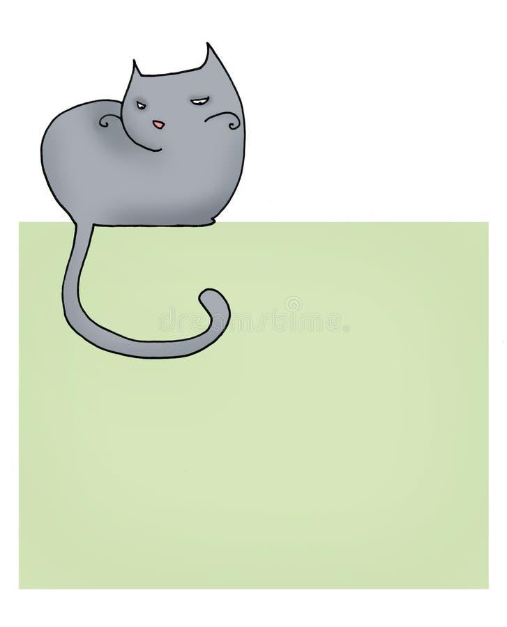 страница кота иллюстрация штока