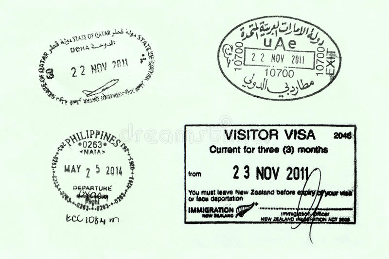 Страница пасспорта стоковые фотографии rf