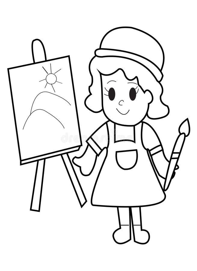 Страница расцветки ребенк бесплатная иллюстрация